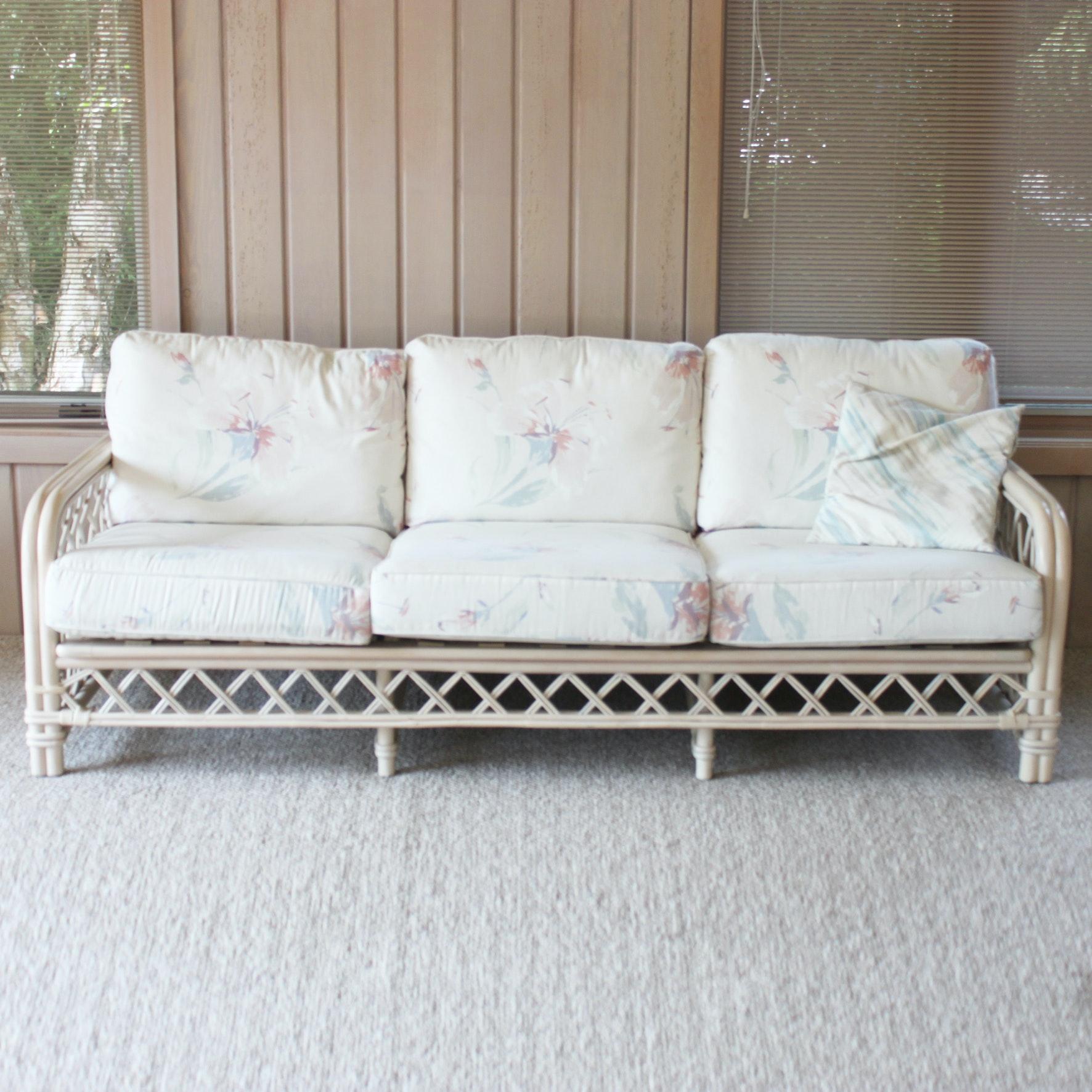 Ficks Reed Rattan Sofa