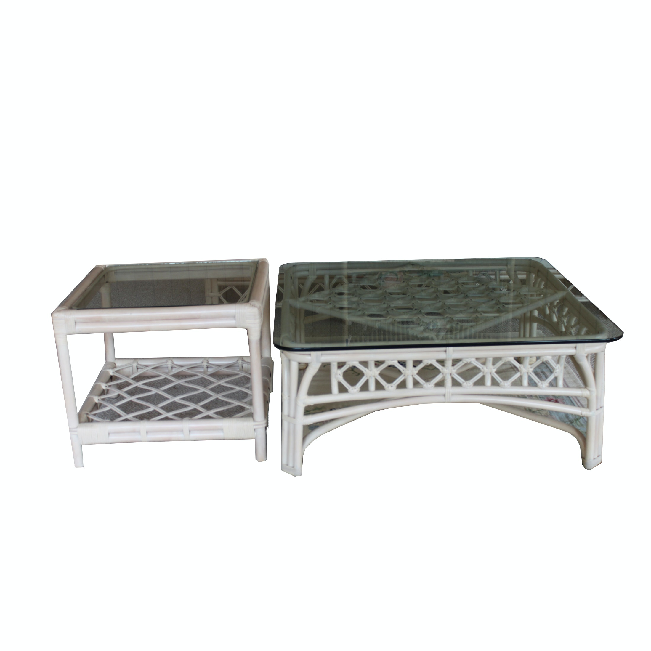 Rattan Coffee Table and Side Table