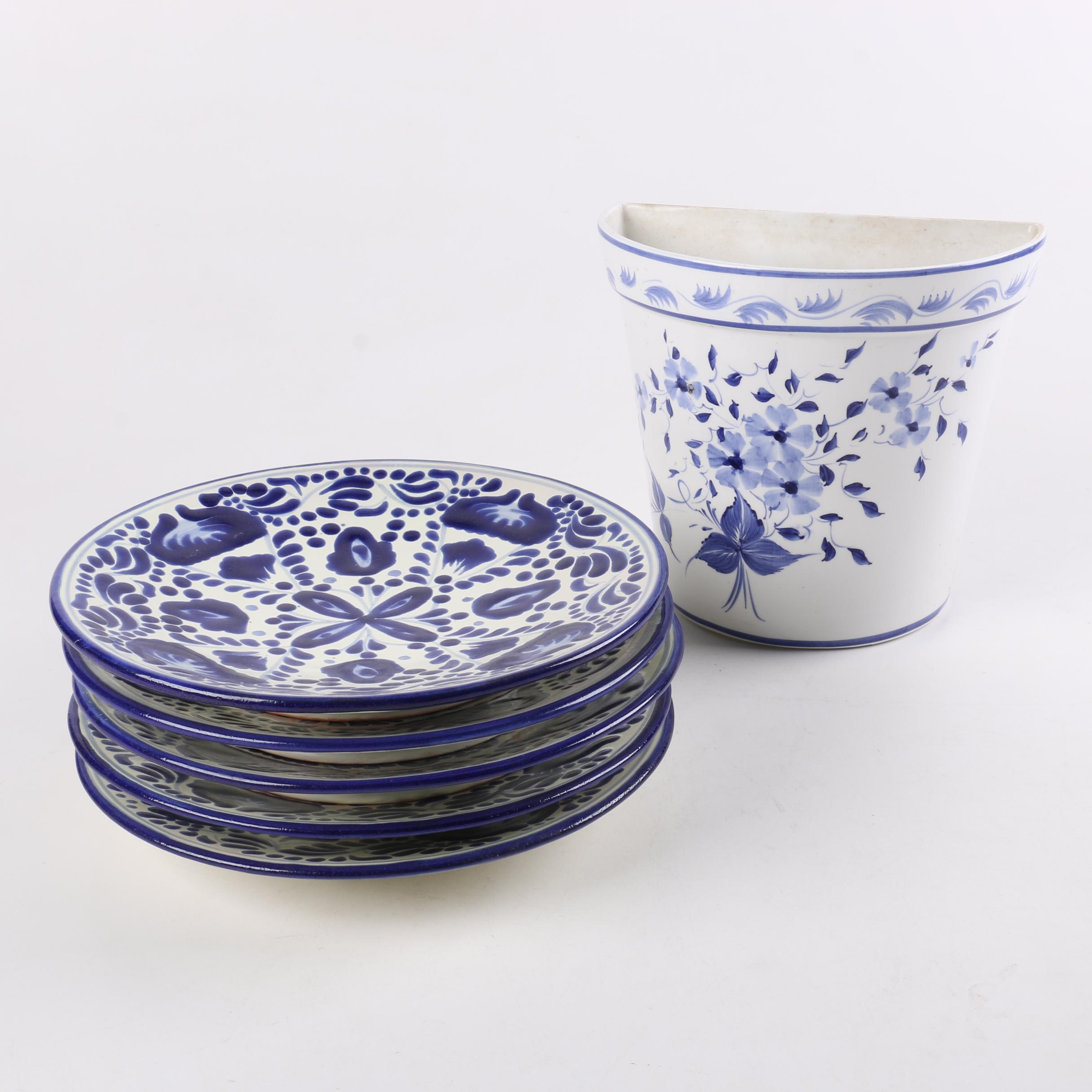 Blue and White Mexican and Portuguese Tableware and Decor ... & Blue and White Mexican and Portuguese Tableware and Decor : EBTH