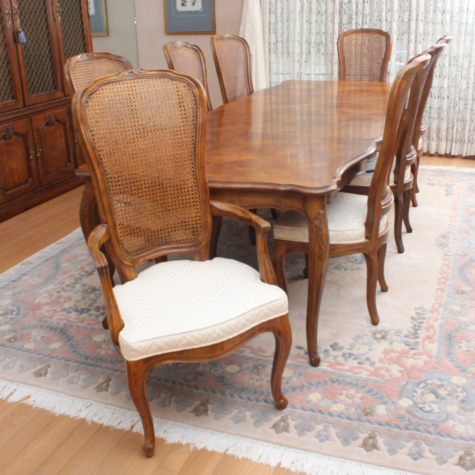 Henredon French Provincial Style Dining Table and Chairs