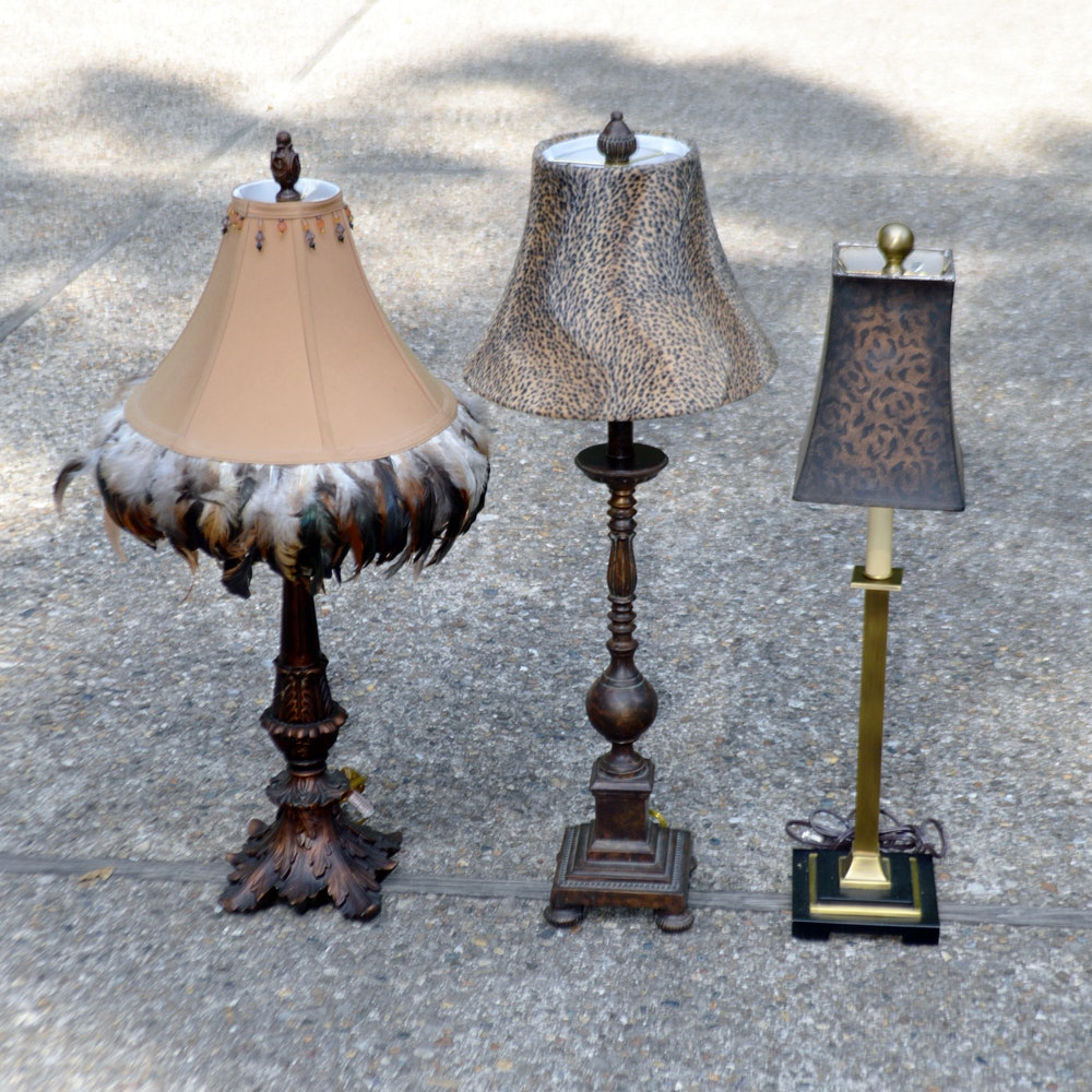 Metal Table Lamps with Lamp Shades
