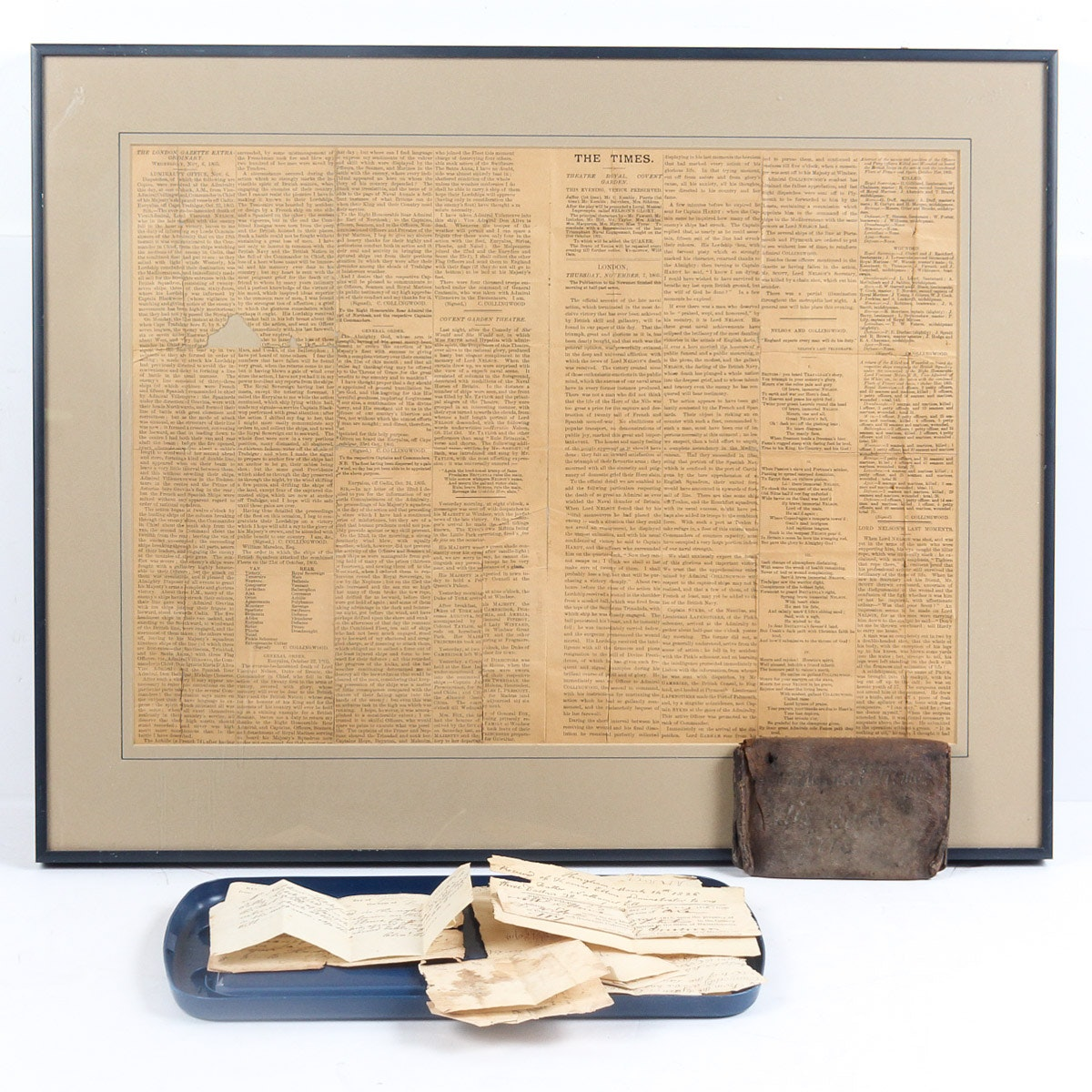 1776 Leather Wallet and Papers