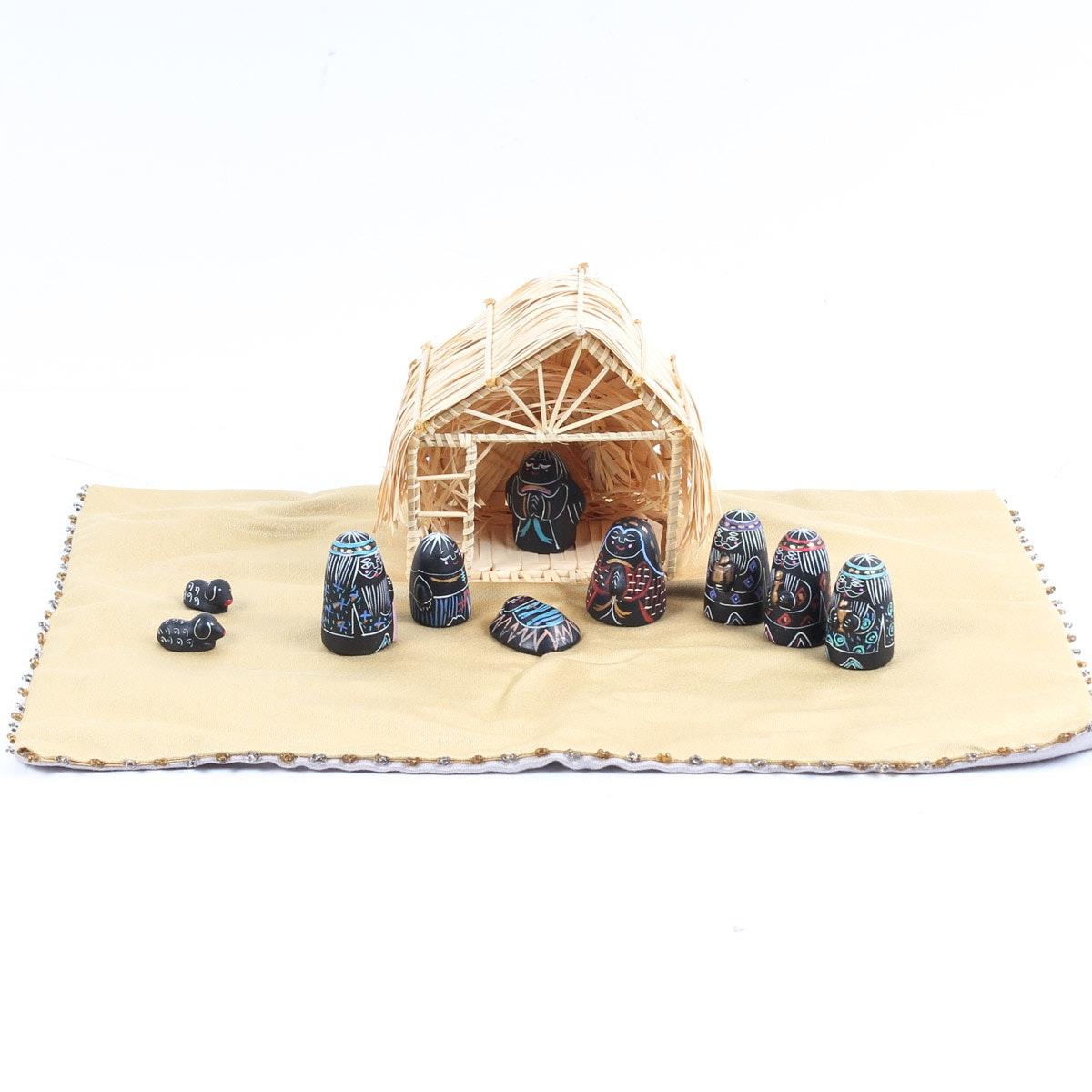 Ten Thousand Villages Hand Painted Nativity