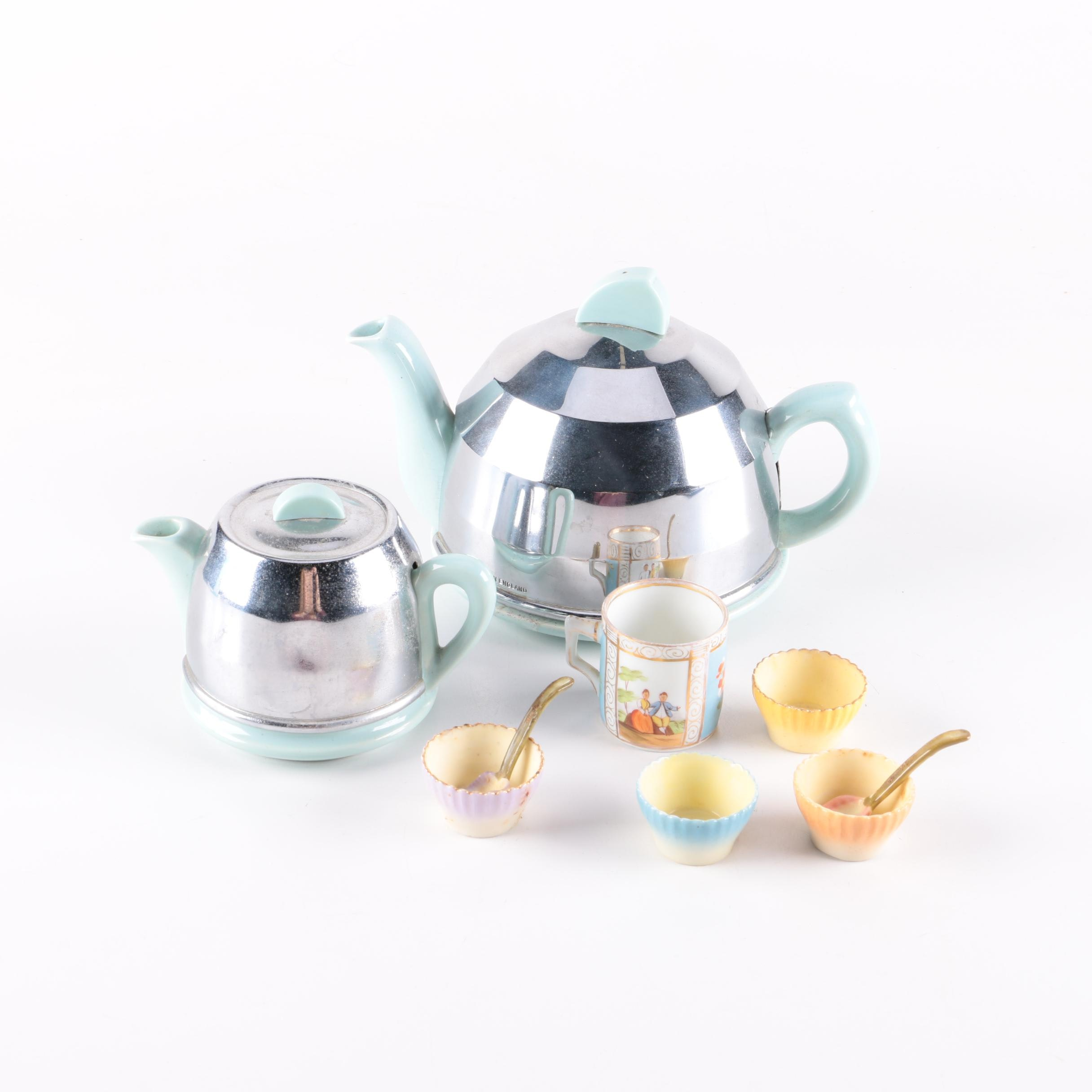 Ceramic Teapot and Tableware