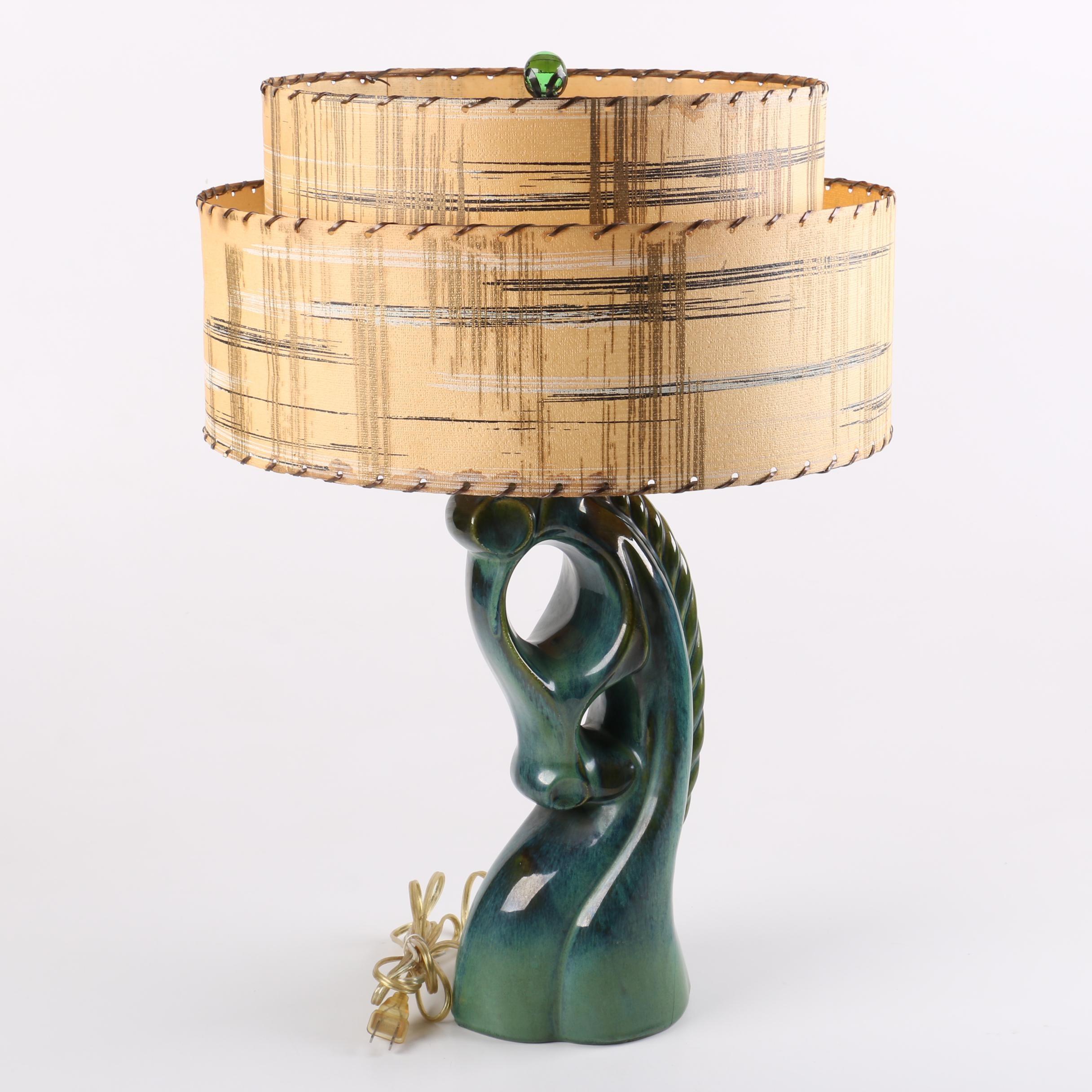 Mid Century Modern Ceramic Horse Lamp