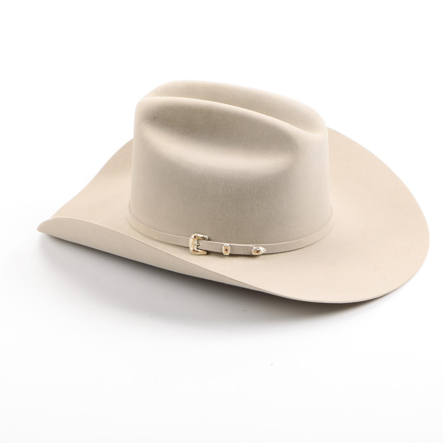 Stetson 30X El Patron Fur Felt Hat with Sterling Silver and Synthetic  Rubies   EBTH ca656051a54
