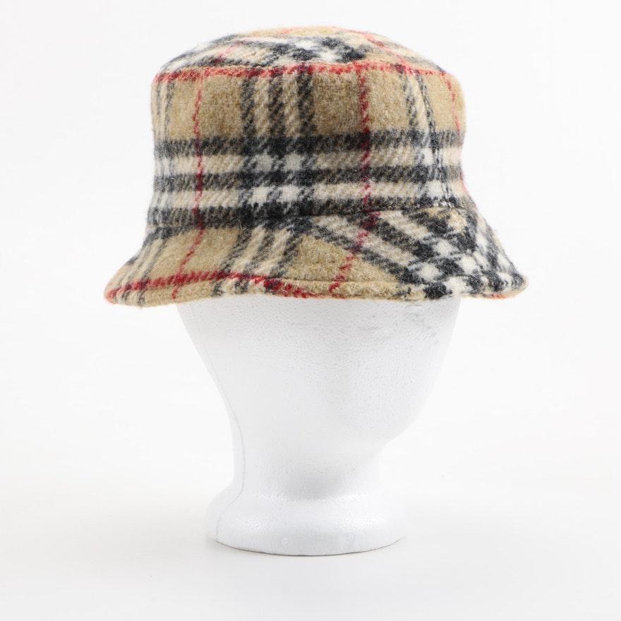 a9a34140a Burberry London Plaid Wool Bucket Hat