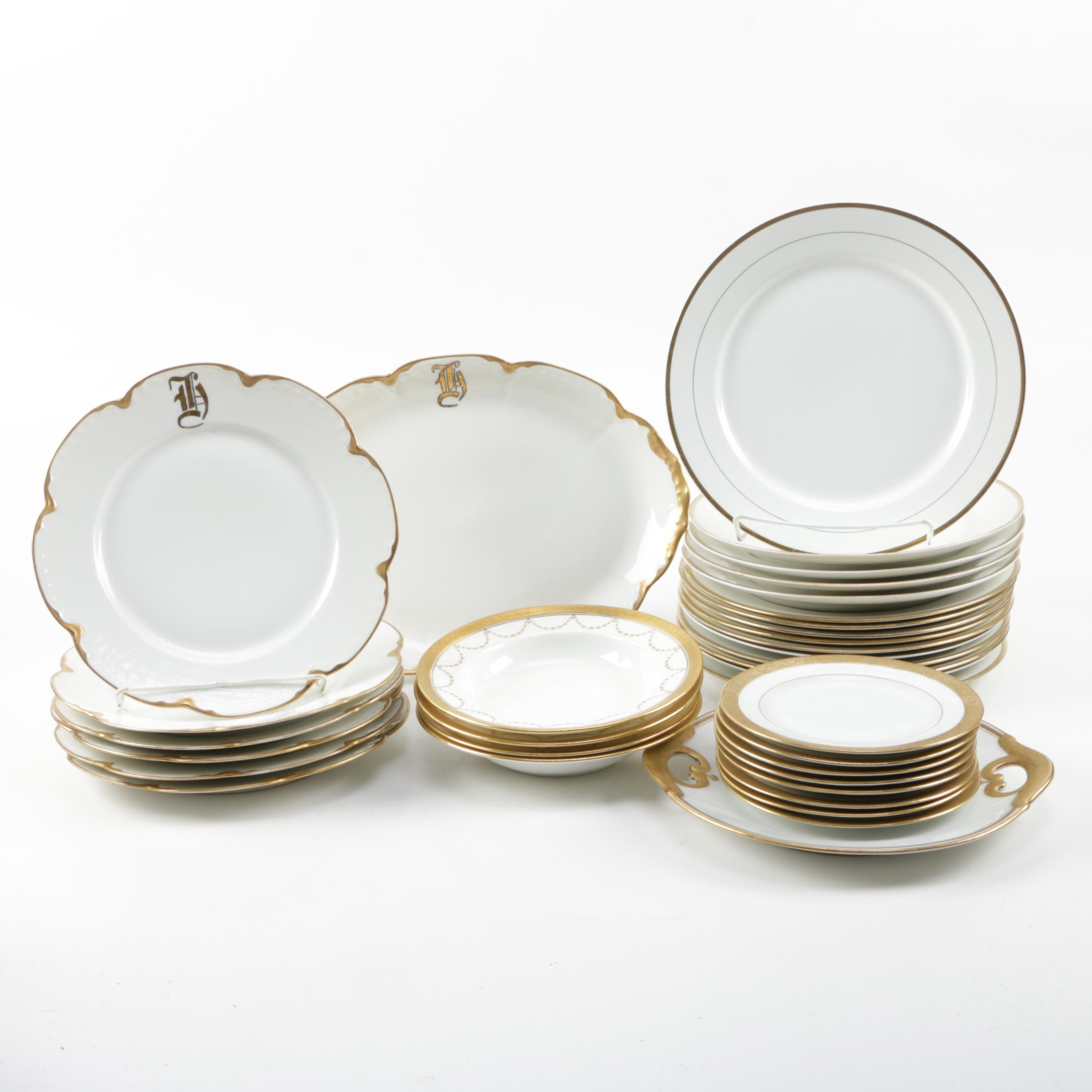 Collection of Gilt Trimmed Tableware