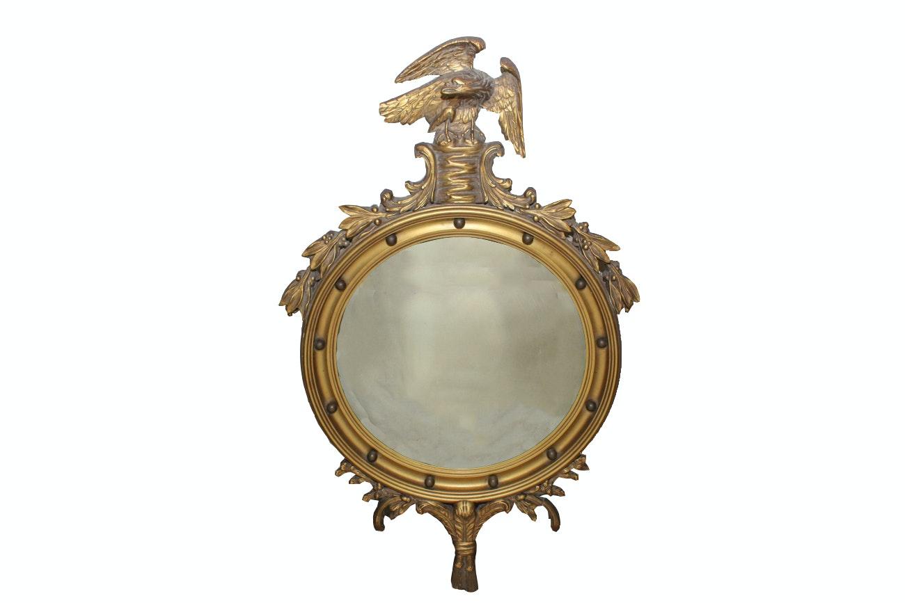 Antique Federal Style Convex Mirror