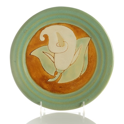 California Arts and Crafts Style Ceramic Plate