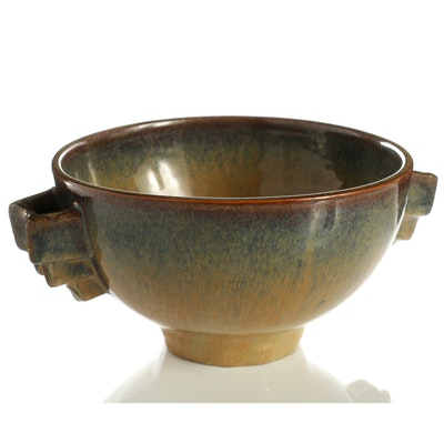 Fulper Ceramic Art Deco Bowl