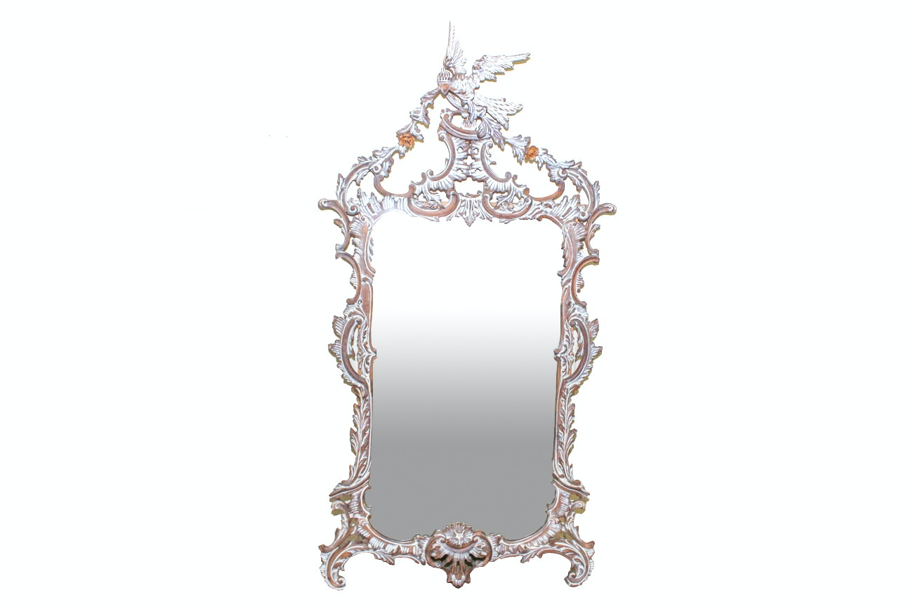 Mirror in Elegant Wooden Frame By LaBarge