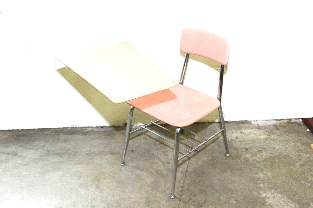 "Vintage  ""Hey Woodite"" Arm Style School Desk Chair"