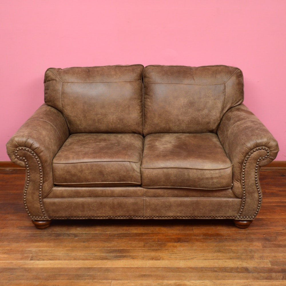 Roll Arm Loveseat by Ashley Furniture