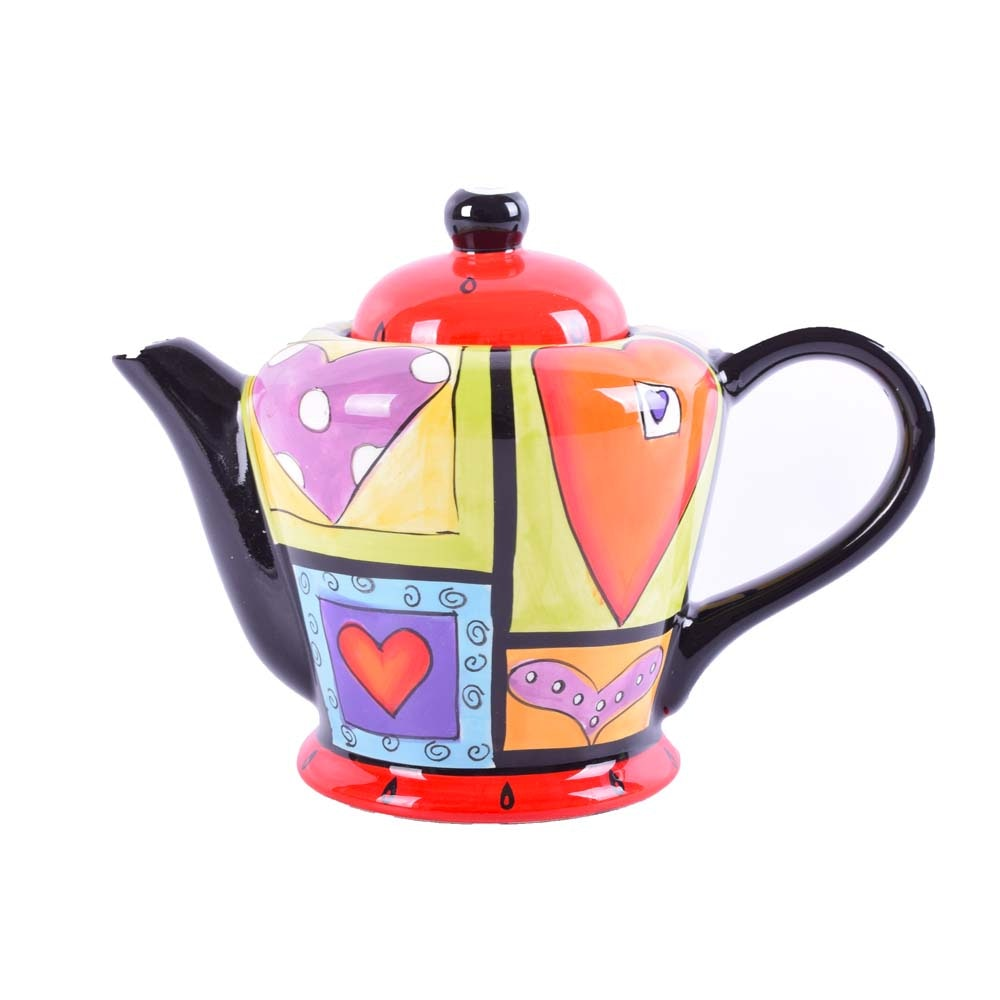 Hand-Painted Naylor Designs Ceramic Teapot