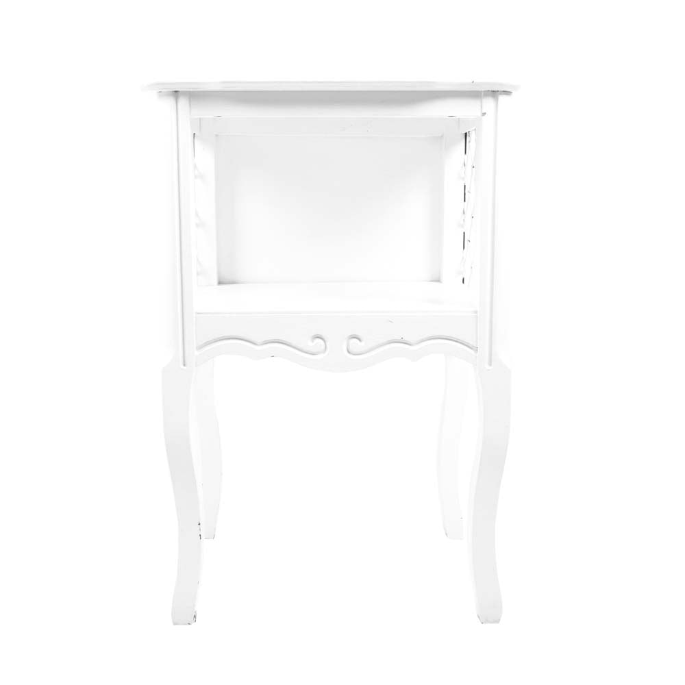 White Painted Side Table
