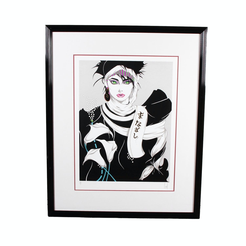 "Framed Steve Leal ""Singapore Lady""  Serigraph"