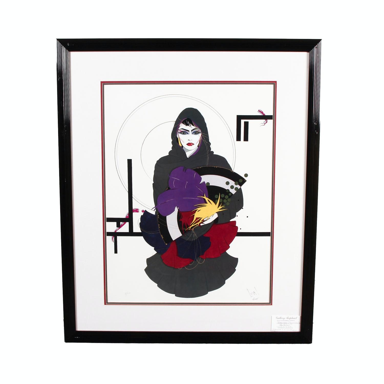 """Framed Steve Leal """"Desire"""" Serigraph"""