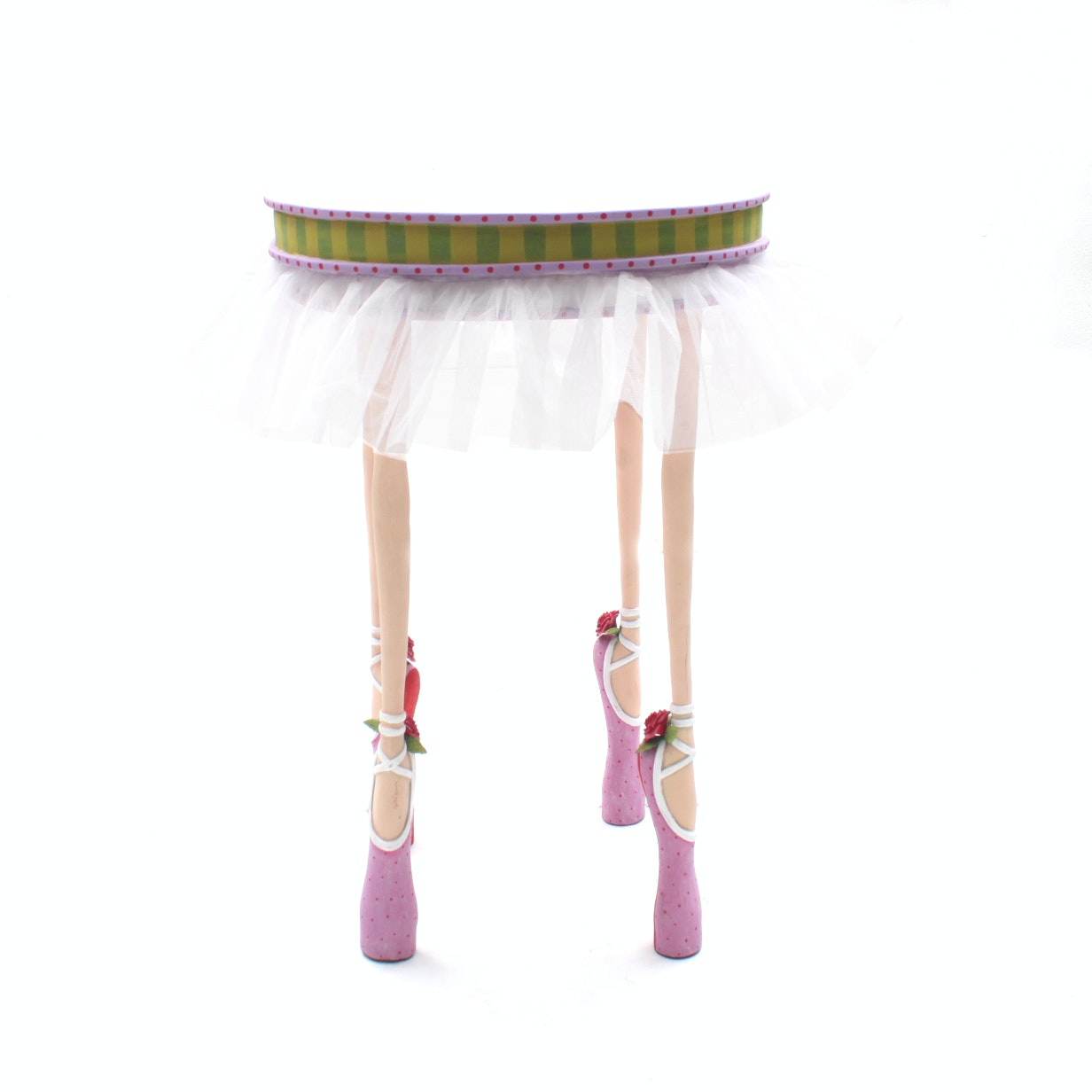 Decorative Ballerina Themed Side Table by Patience Brewster