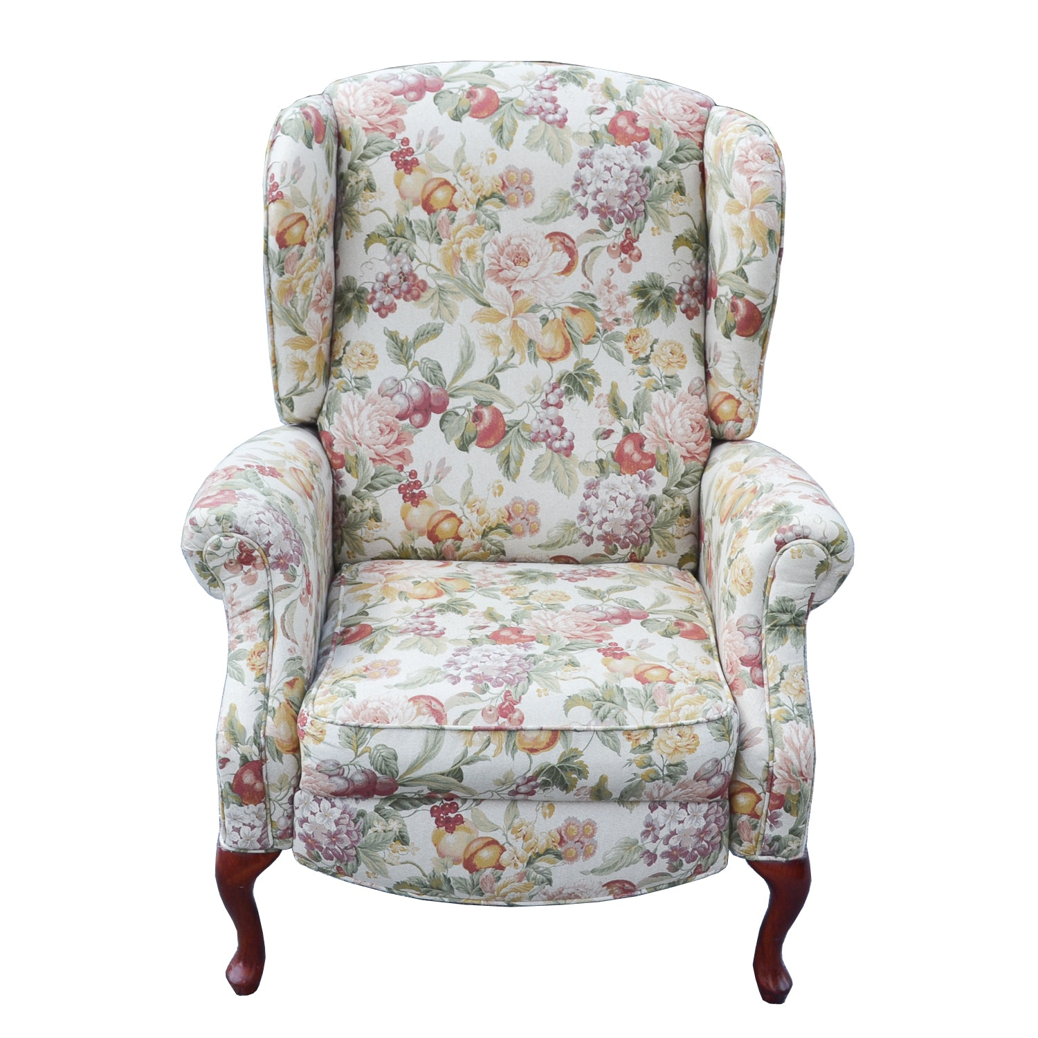 Queen Anne Style Wingback Reclining Chair