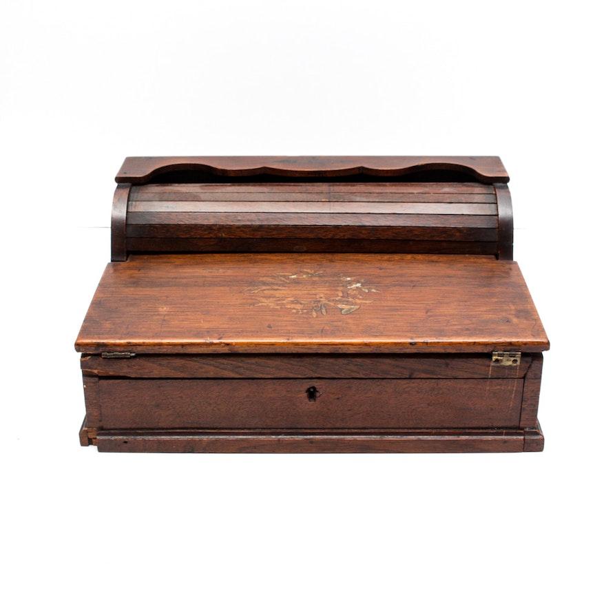Antique Portable Roll-Top Writing Desk ... - Antique Portable Roll-Top Writing Desk : EBTH