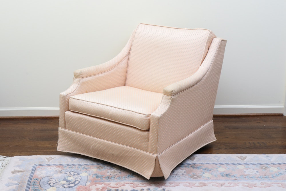 Upholstered Swivel Club Chair