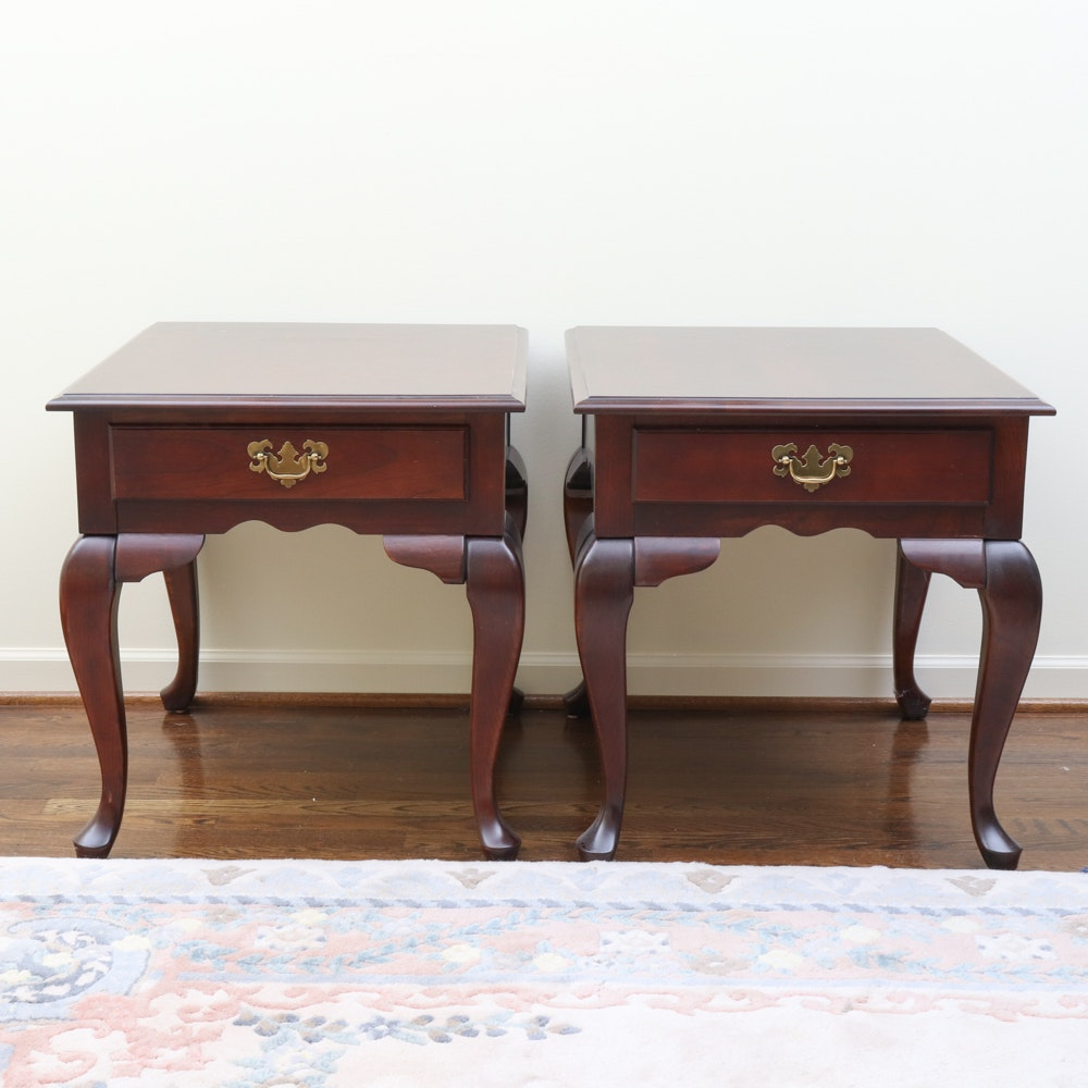 Queen Anne Style End Tables by Null