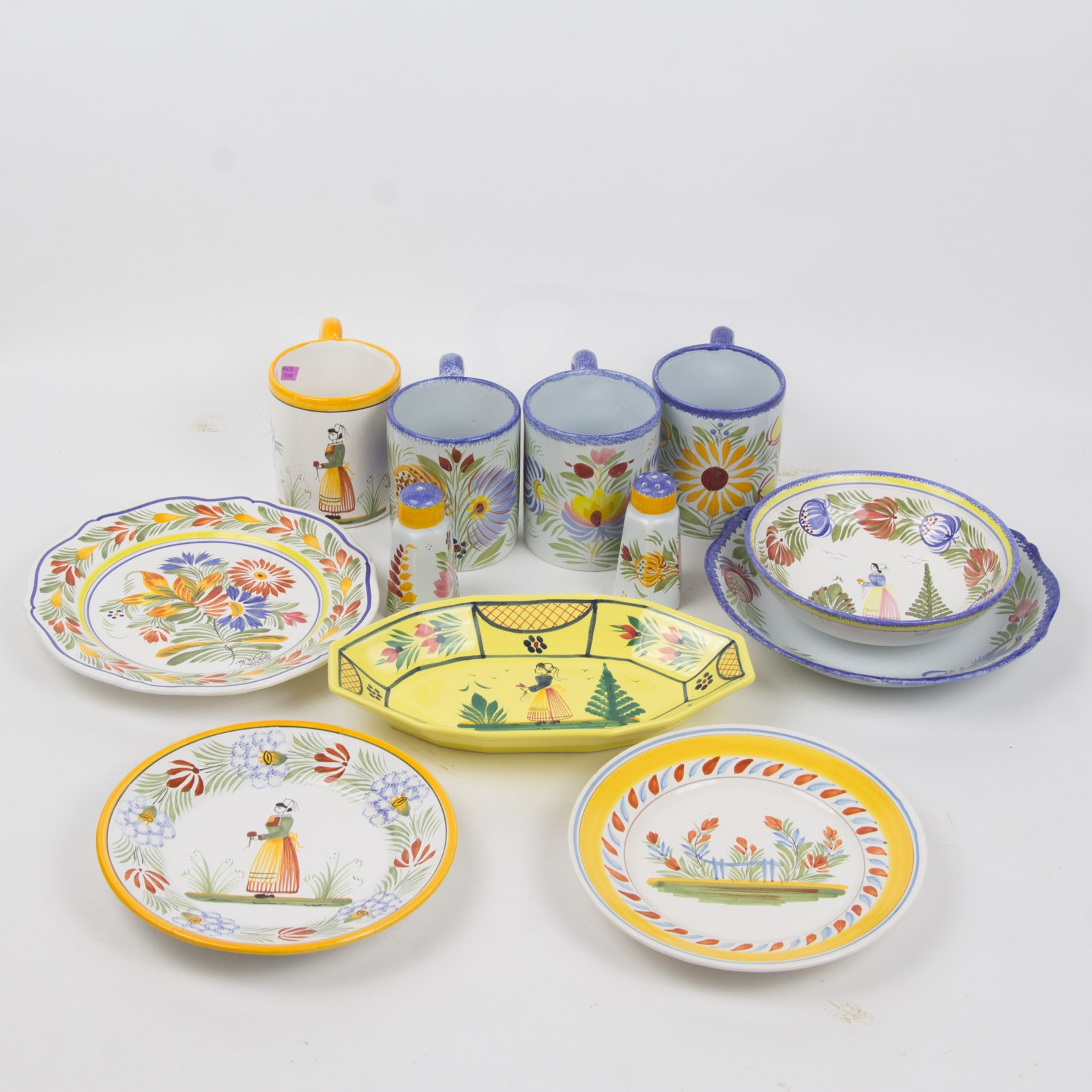 Henriot Quimper Hand-Painted Faïence  Collection