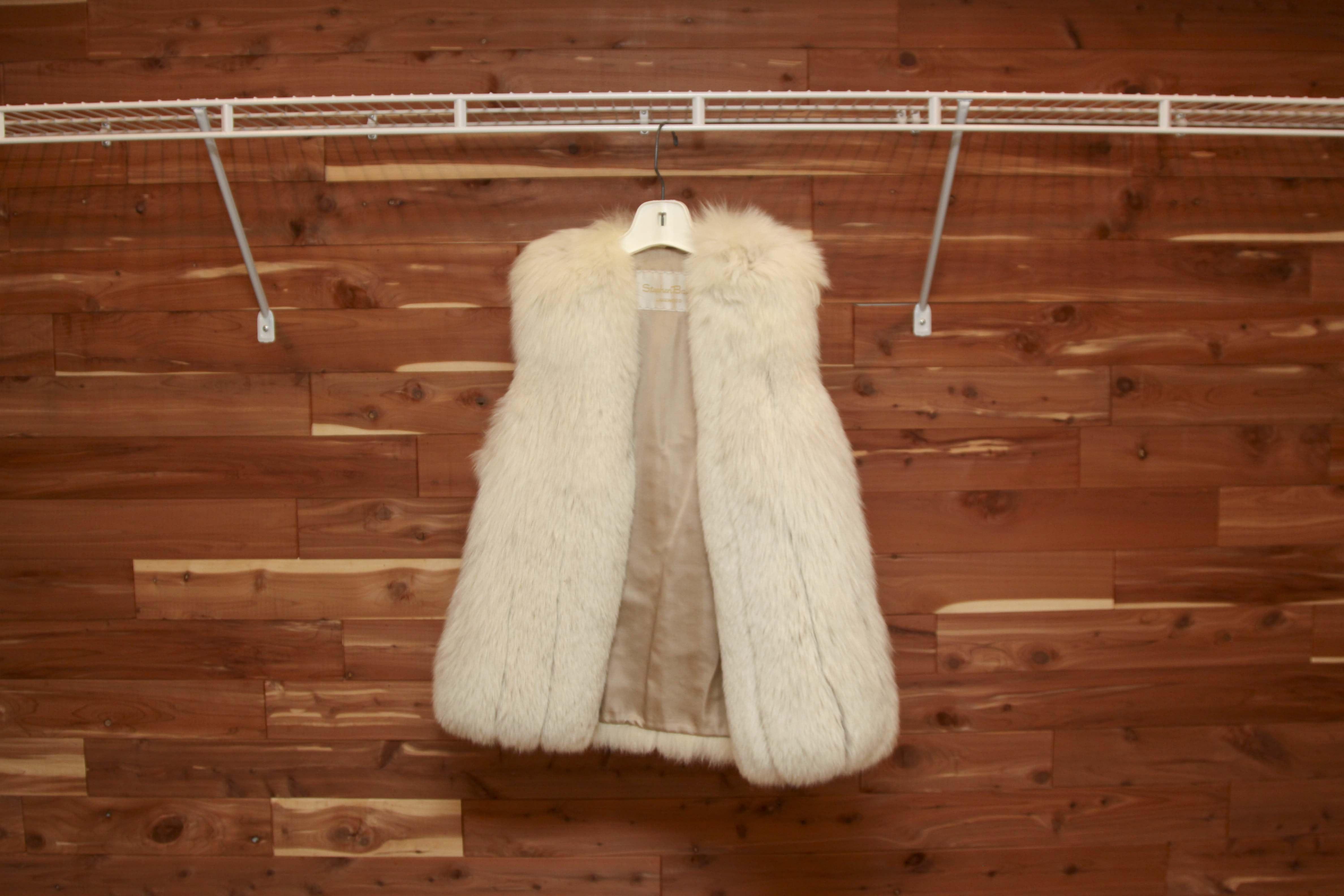 Saga Select White Fox Fur Vest