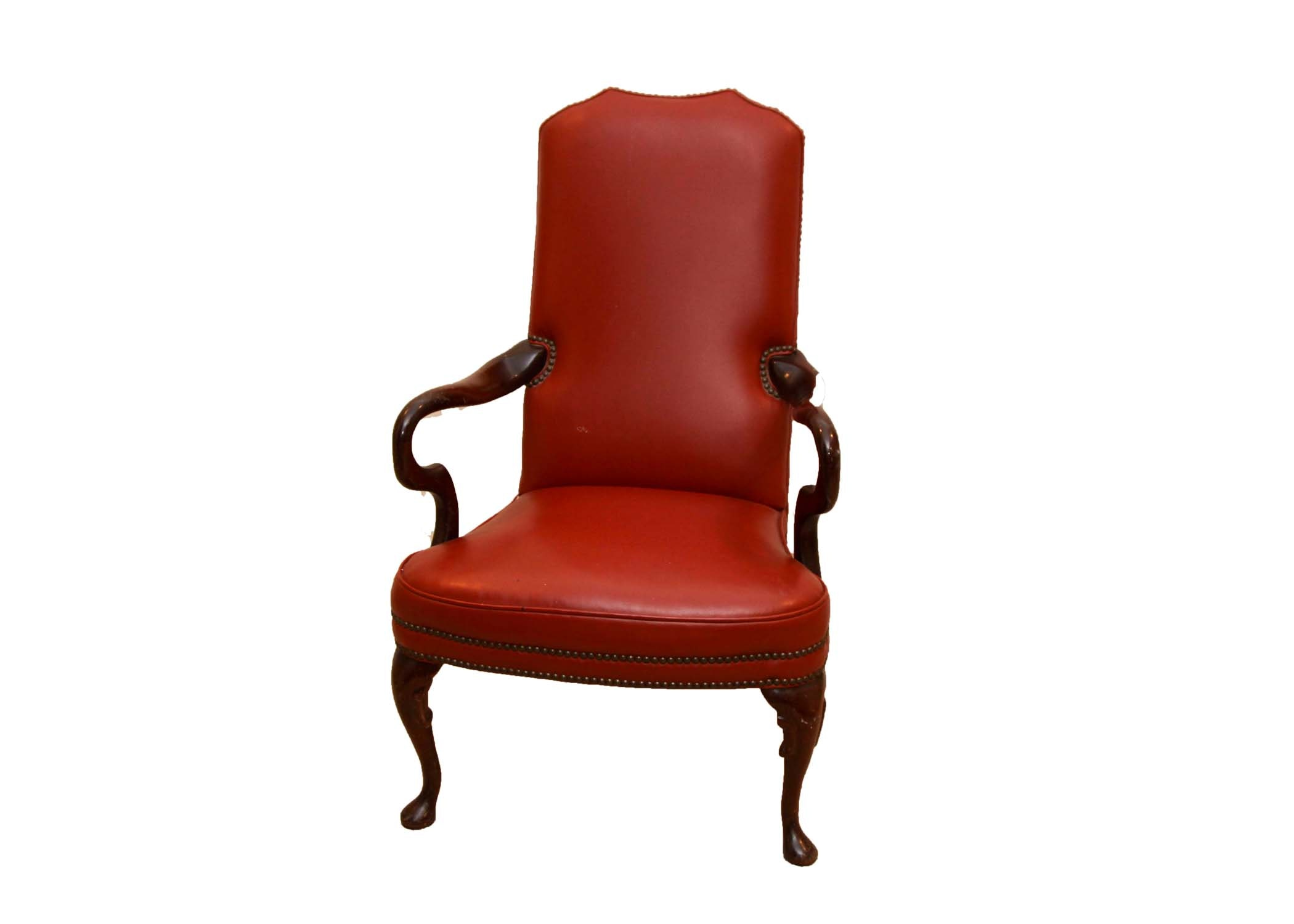 St. Timothy Chair Co. Red Leather Armchair