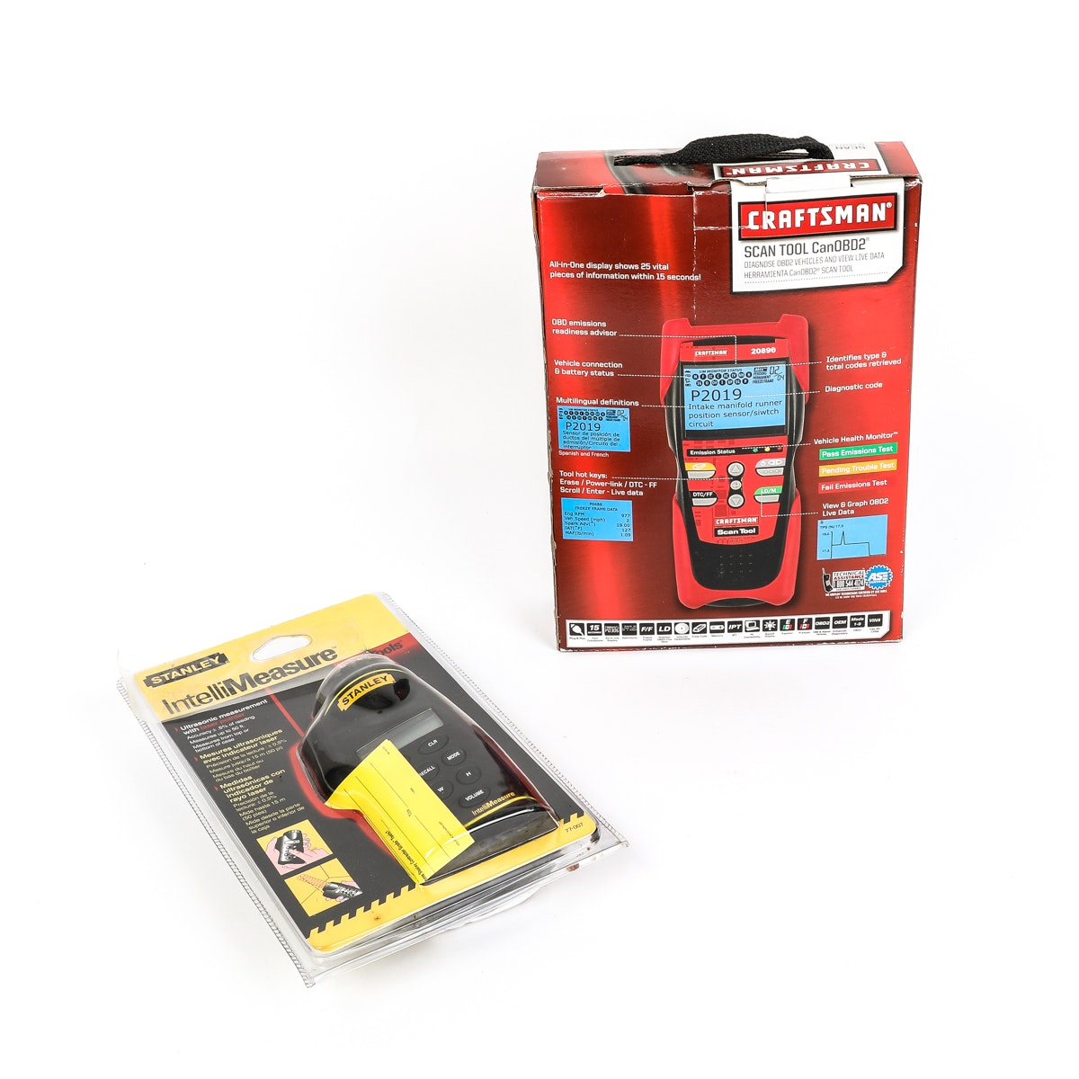 Craftsman Scan Tool and Stanley Ultrasonic Measurement Tool with Laser Pointer