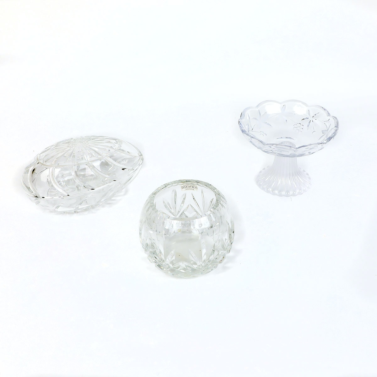 Trio of Decorative Crystal Pieces