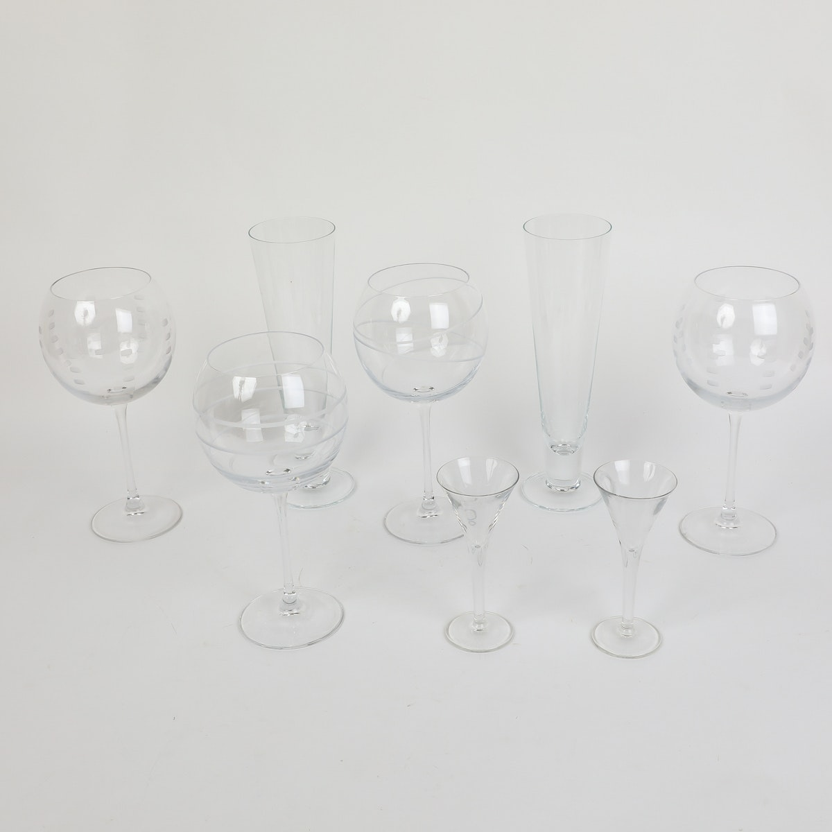 Assorted Glass Drinkware