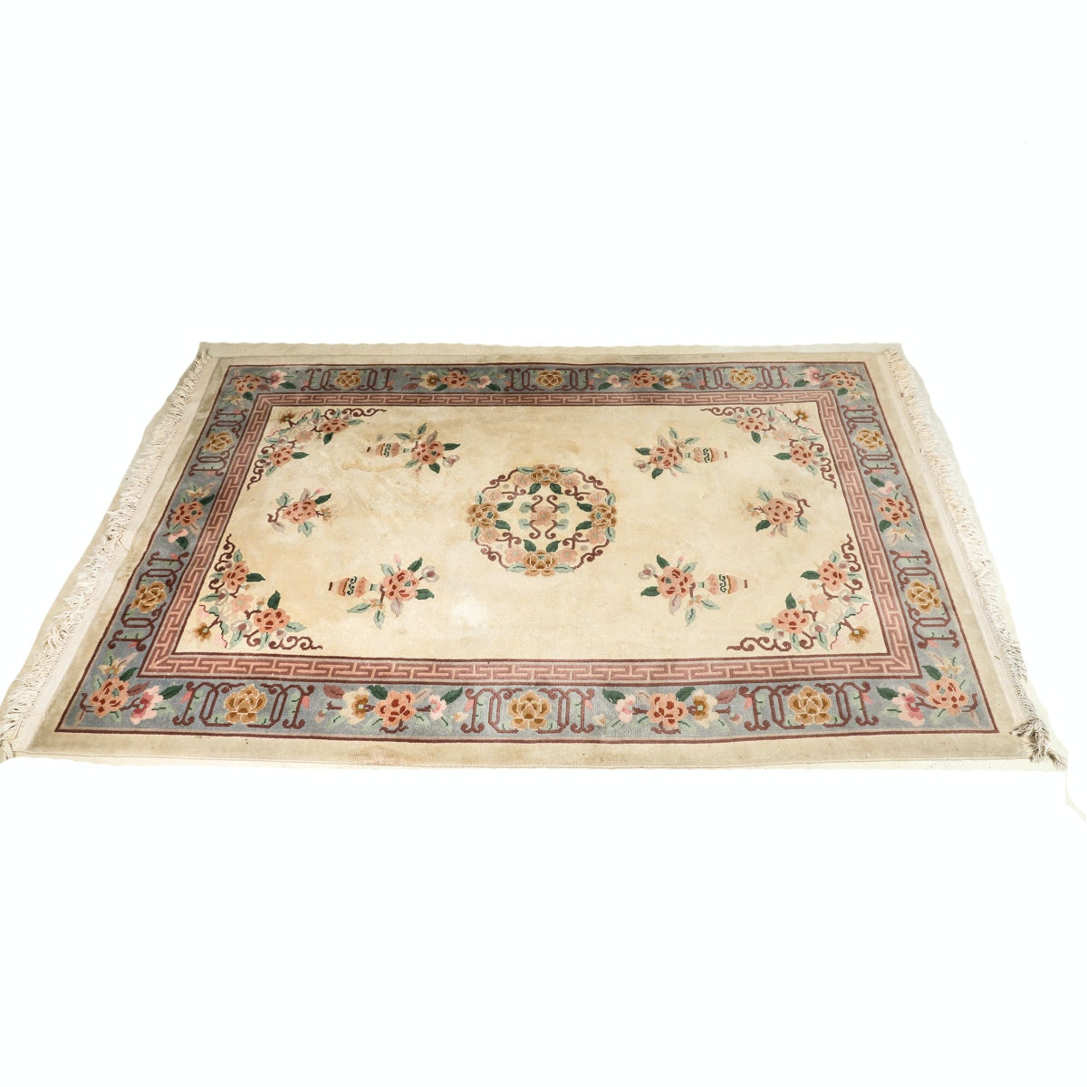 Hand-Knotted Chinese Wool Area Rug