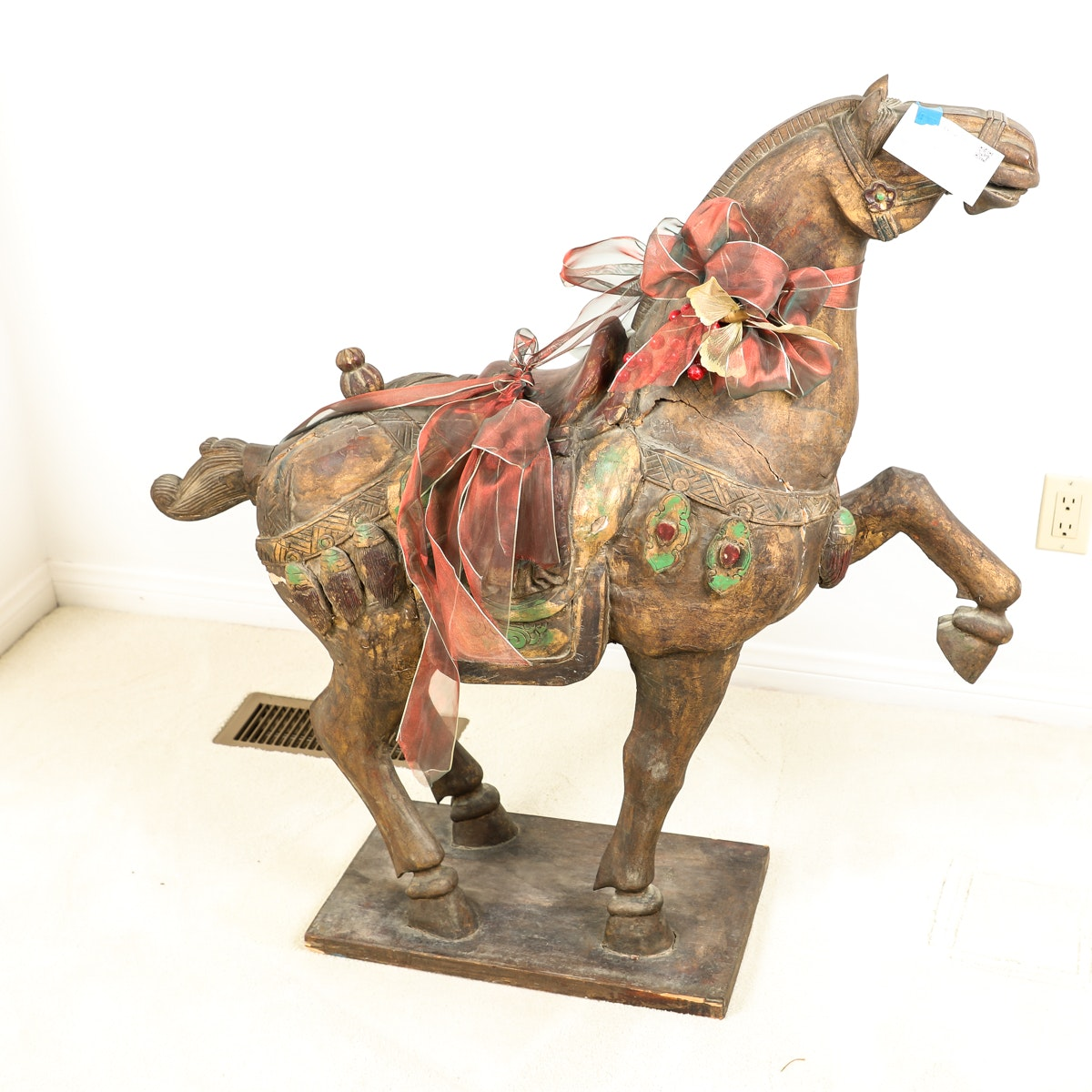 Antique Painted Wooden Horse