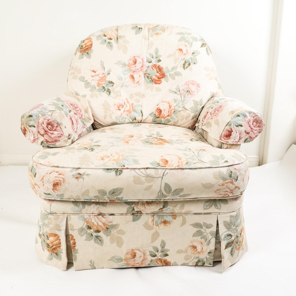 Ethan Allen Floral Armchair