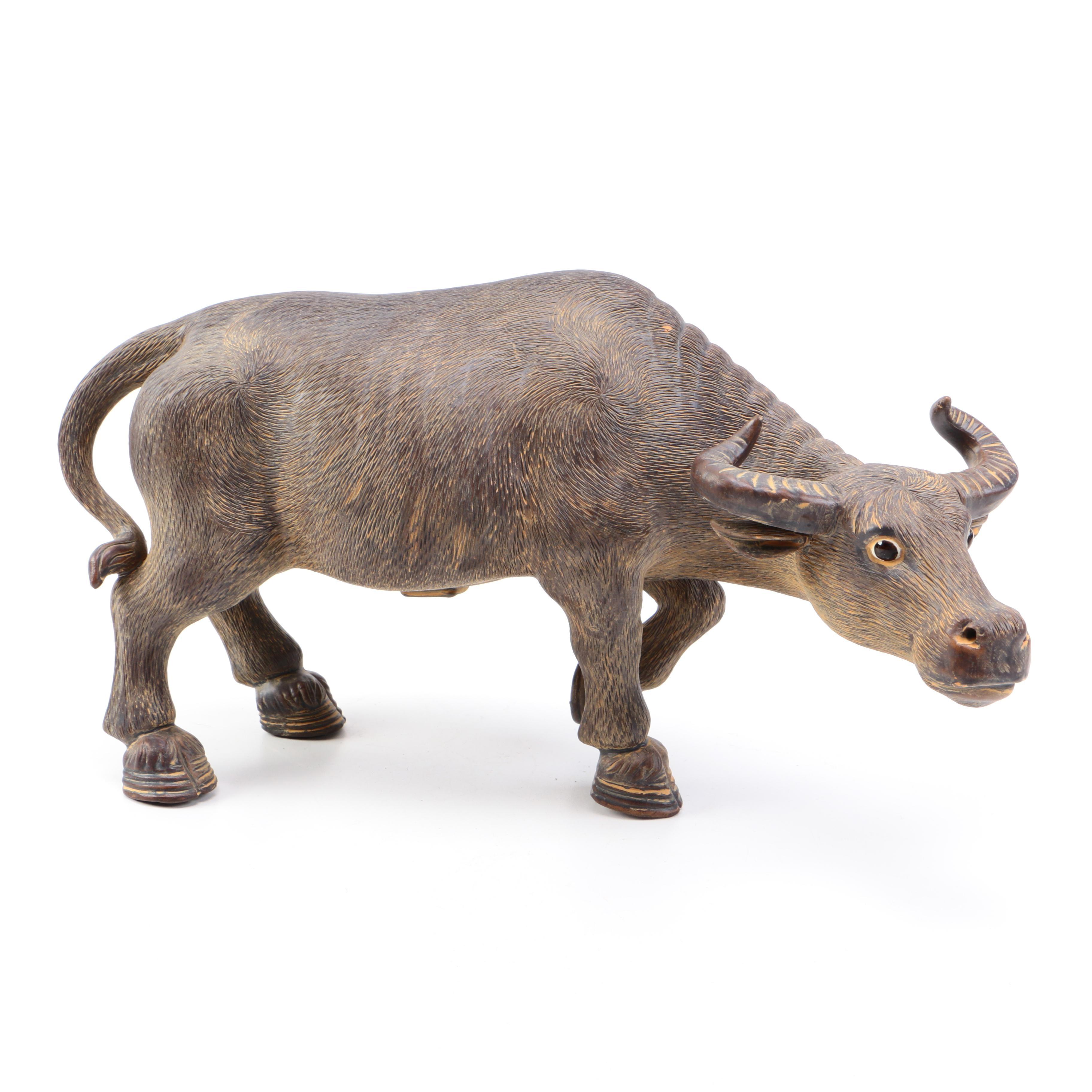Chinese Metal Ox Figurine Ebth
