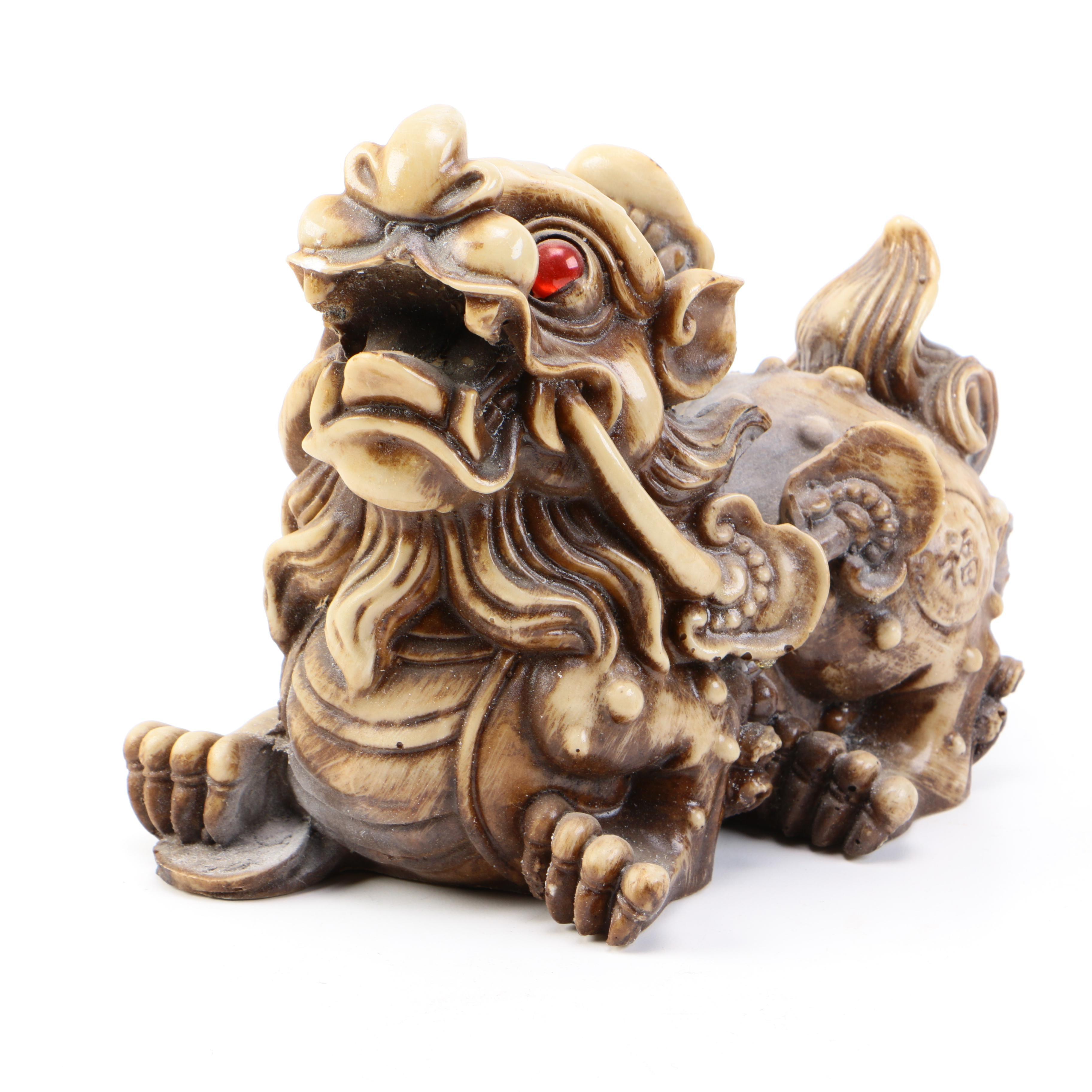 Chinese Ceramic Dragon Sculpture