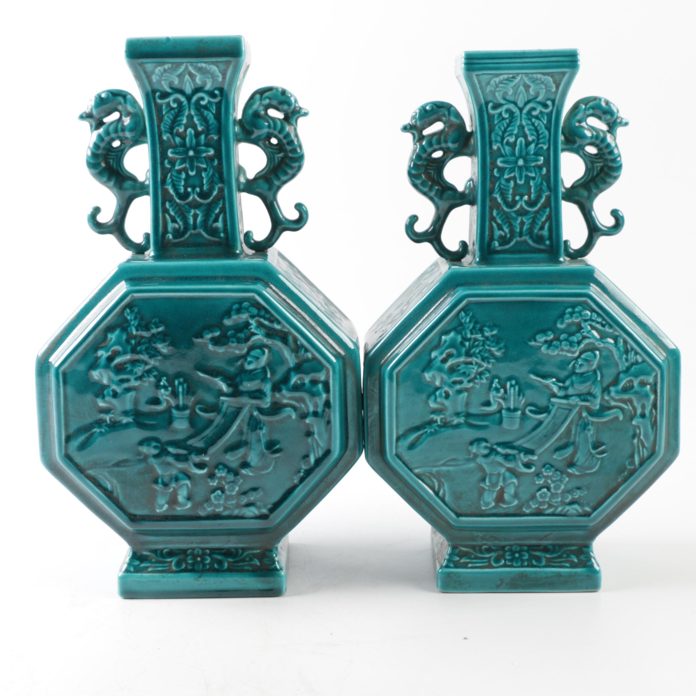 Pair of Ceramic Chinese Vases
