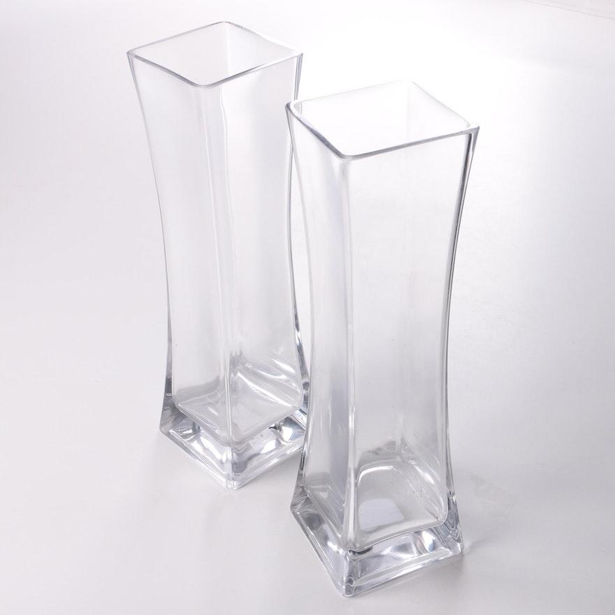 Glass Rectangular Vases Ebth