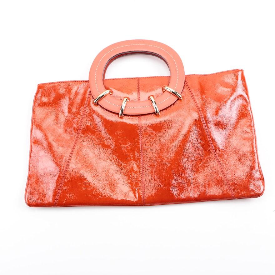 Orange Patent Leather Handbag By Kate Spade