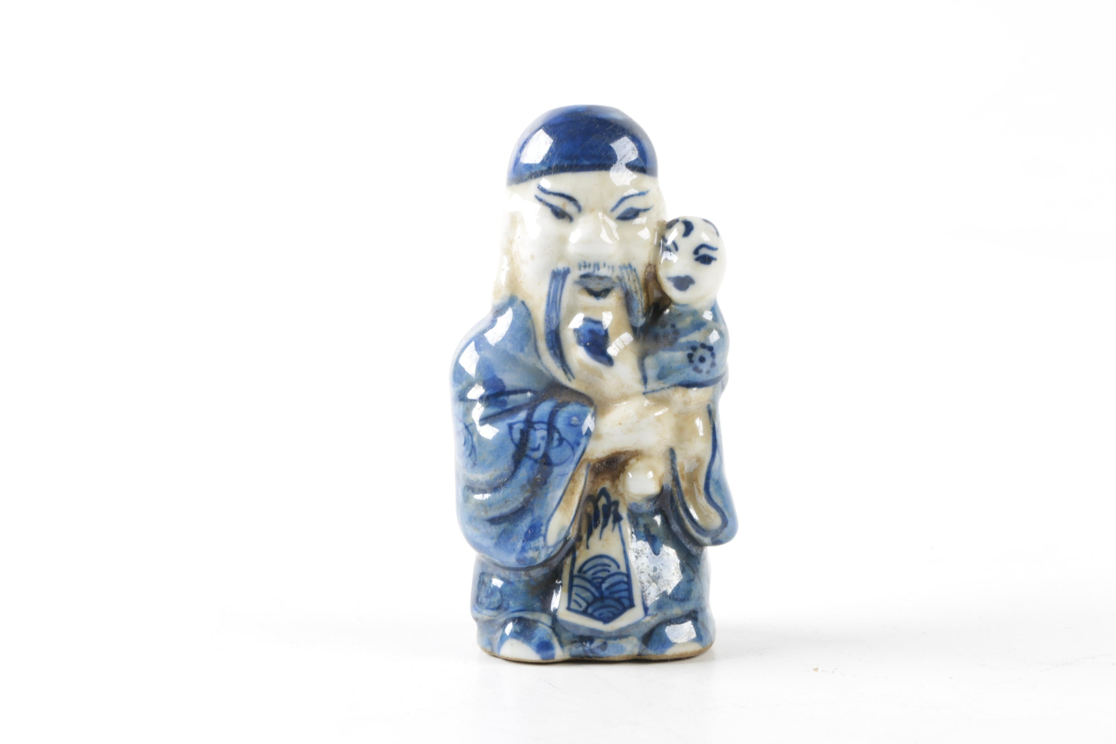 Blue And White Chinese Figurative Snuff Bottles Ebth