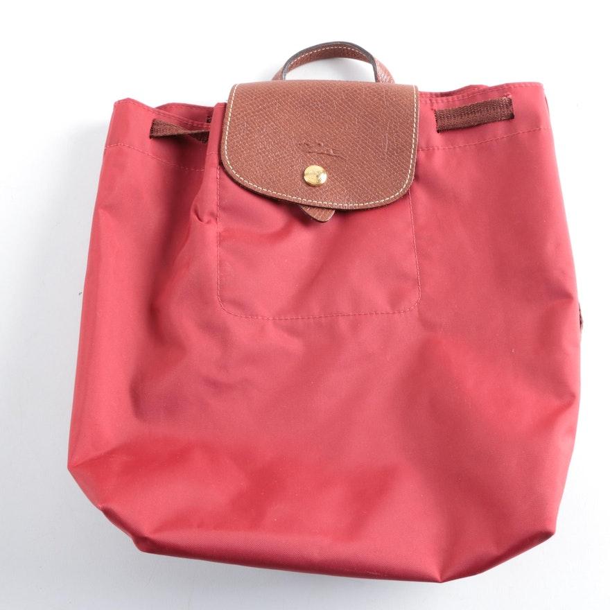 Longchamp Le Pliage Drawstring Backpack   EBTH 01ead64e67