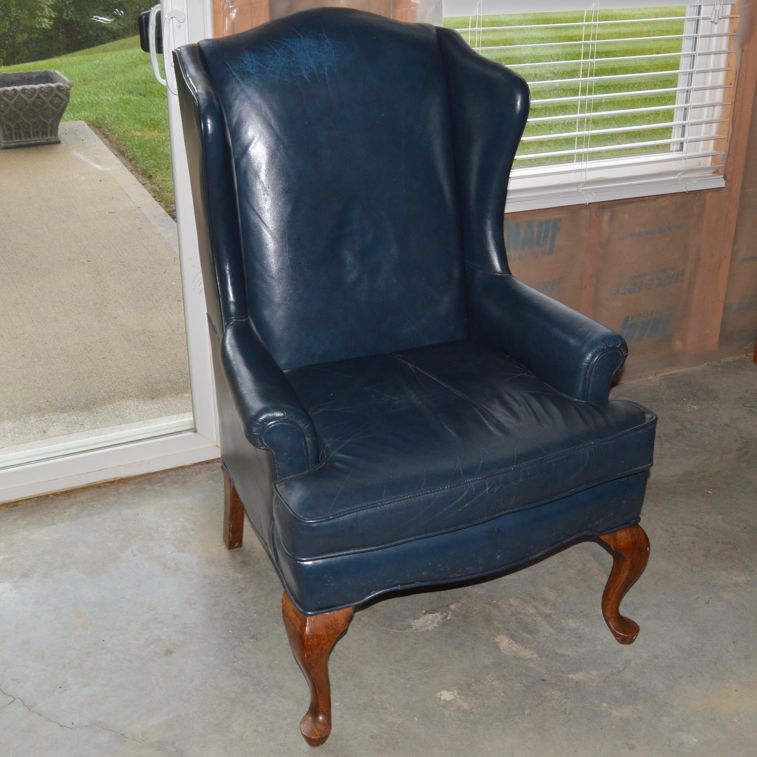 Leather Wingback Chair by Fairfield