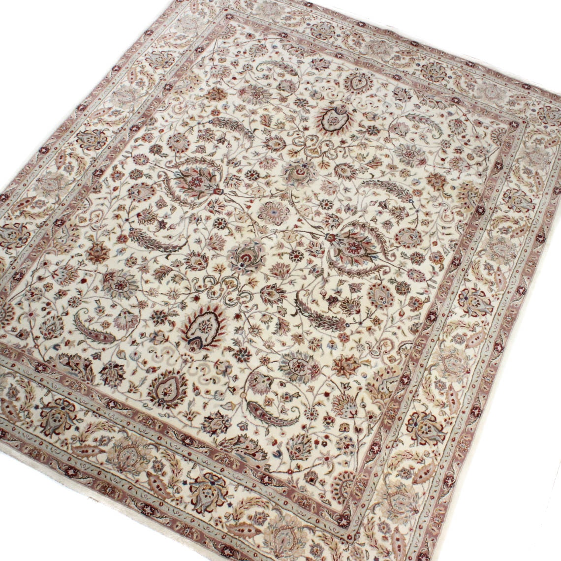 Hand Tufted Silk Sino Persian Tabriz Area Rug