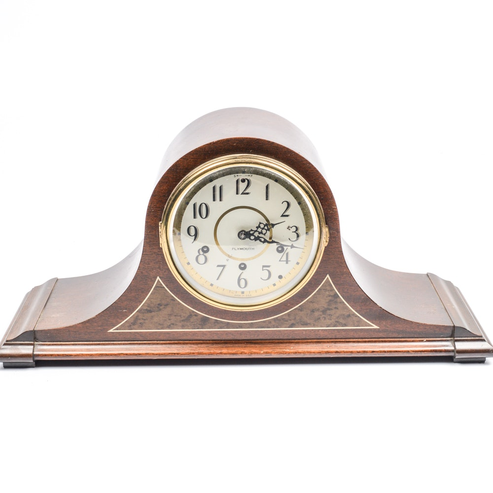 Vintage Plymouth Mantle Clock