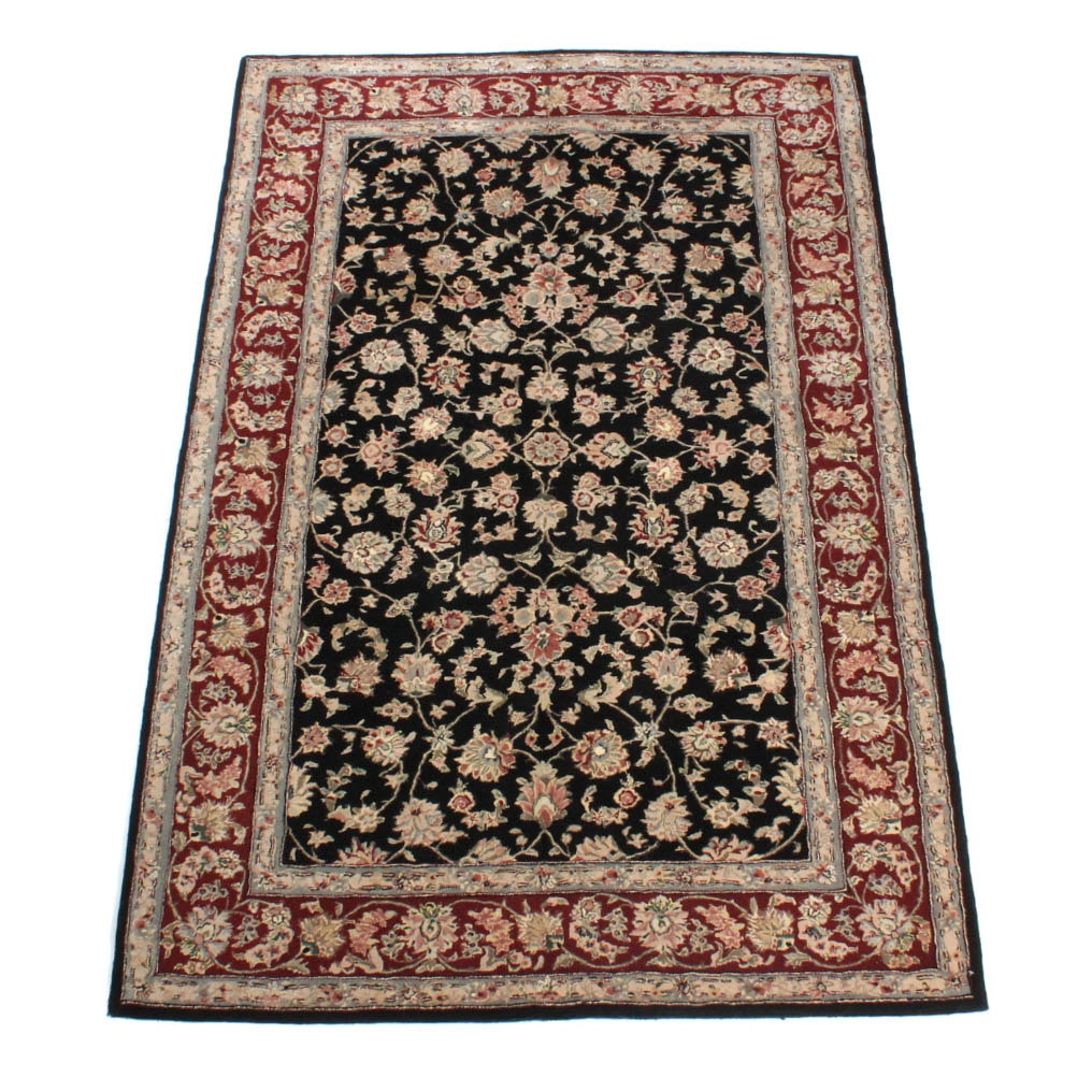 Hand Tufted Silk Sino-Persian Tabriz Rug