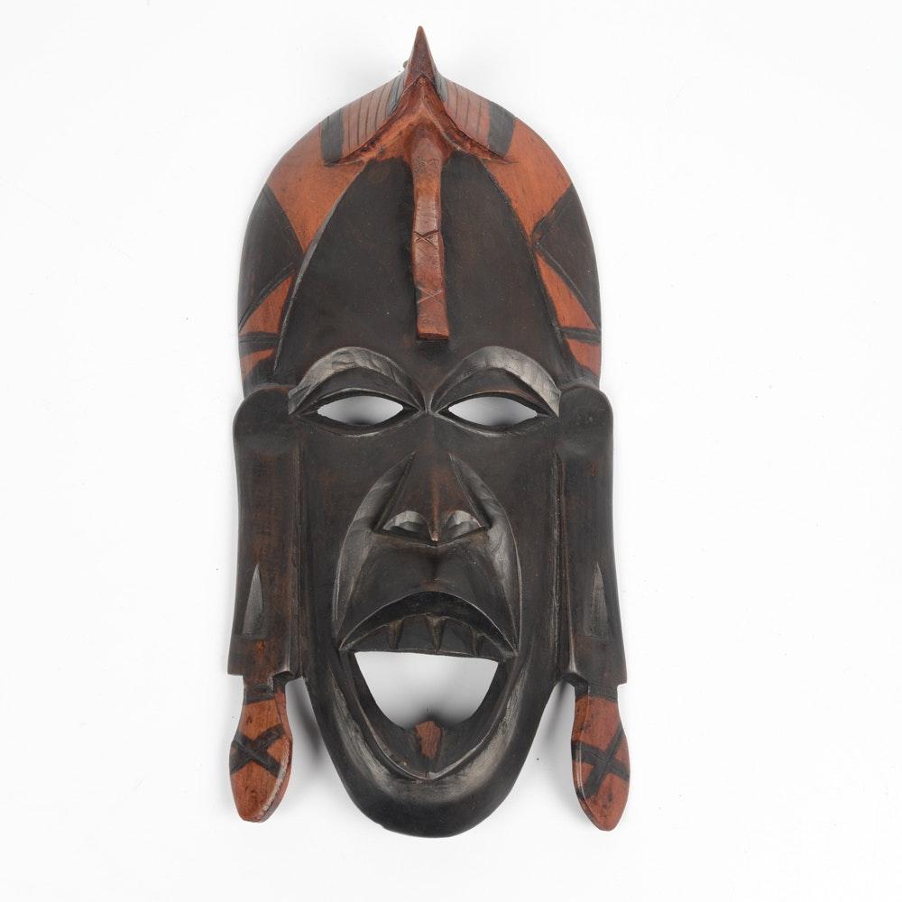 Kenyan Maasai Mara Hand Crafted Wood Mask