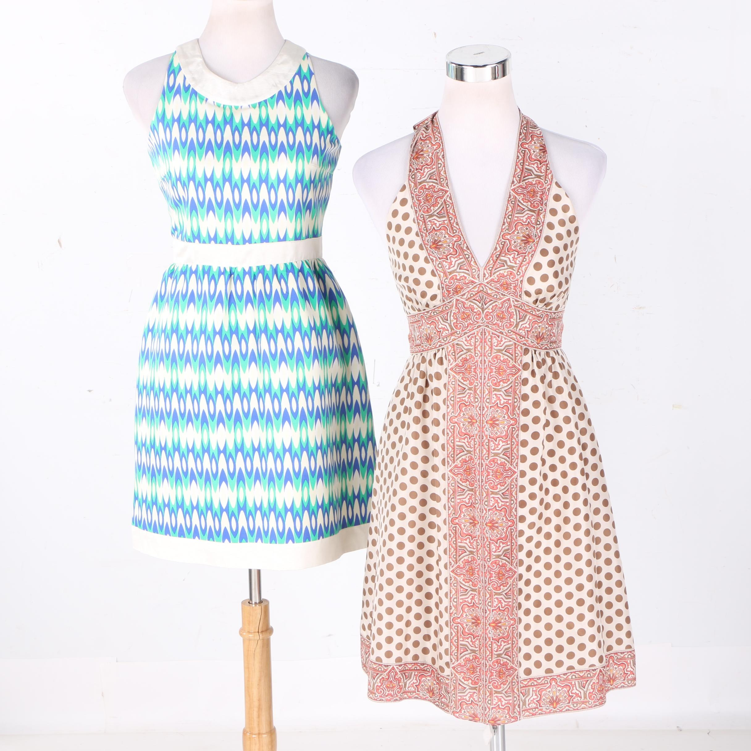 BCBGMaxazria and Julie Brown Sleeveless Dresses