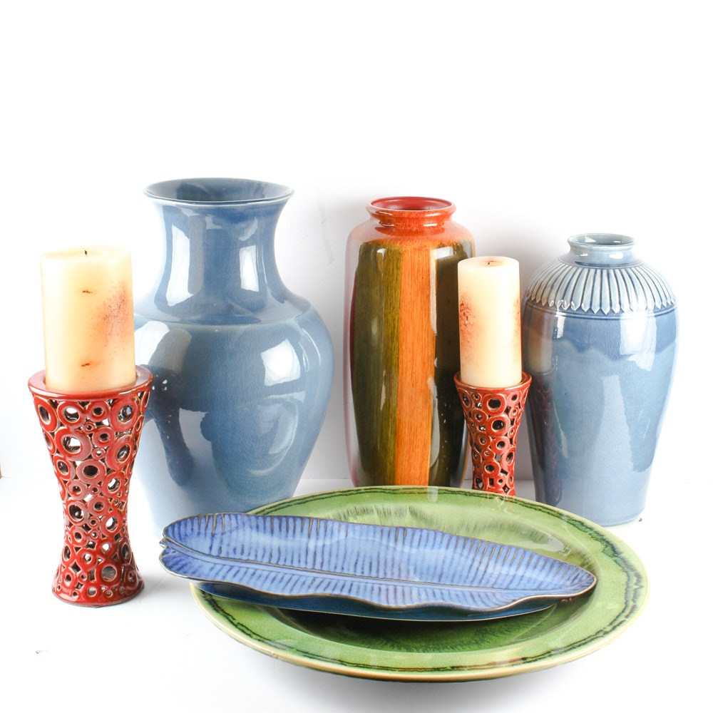 Selection of Ceramic Vases and Decor